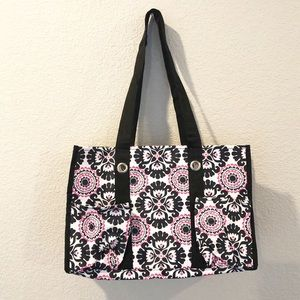 NWT thirty-one Utility tote pink and black